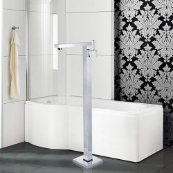 Contemporary Art Deco,Retro Modern Tub And Shower Handshower Included Widespread Floor Standing Ceramic Valve Single Handle One...