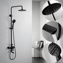 Shower System Set - Rainfall Contemporary Painted Finishes Shower System Ceramic Valve Bath Shower Mixer Faucet