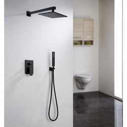 Shower Faucet Set - Rainfall Traditional Painted Finishes Wall Mounted Ceramic Valve Bath Shower Mixer Faucet