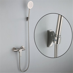 304 Stainless Steel Simple Shower Shower Set Portable Cold And Hot Water Mixing Valve Shower Faucet