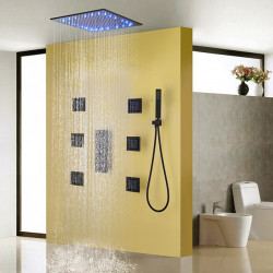 Shower Faucet - Contemporary Painting Shower System Ceramic Valve,Brass