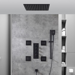 Shower Faucet,Shower System,Rainfall Shower Head System Set - Handshower Included Fixed Mount Rainfall Shower Contemporary...