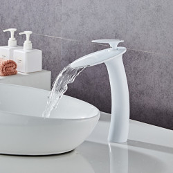 Faucet Set - Waterfall Painted Finishes Centerset Single Handle One HoleBath Faucet