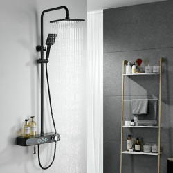 Thermostatic Bathroom Shower Mixer with LED light and Temperature Display