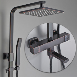 Shower Faucet,Shower System,Rainfall Shower Head System Set - Handshower Included pullout Rainfall Shower Contemporary,Country...