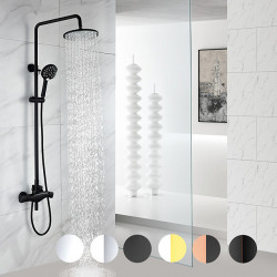 Shower System,Rainfall Shower Head System Set - 6 Colors Handshower Included Rainfall Shower Contemporary Electroplated Mount...