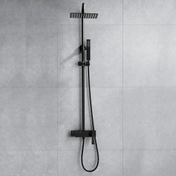 Shower System Set - Handshower Included Contemporary Painted Finishes Mount Outside Ceramic Valve Bath Shower Mixer Faucet