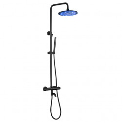 Shower System Set - Handshower Included LED Rainfall Contemporary Chrome,Painted Finishes Wall Mounted Brass Valve Bath Shower...