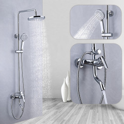 Shower System,Rainfall Shower Head System Set - Handshower Included pullout Multi Spray Shower Contemporary,Traditional...