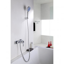 Shower Faucet Set - Handshower Included Contemporary Chrome Wall Mounted Ceramic Valve Bath Shower Mixer Faucet