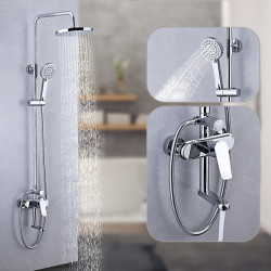 Shower System,Rainfall Shower Head System Set - Handshower Included Multi Spray Shower Waterfall Contemporary,Traditional...