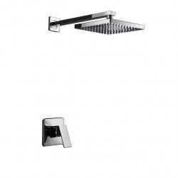 Shower Faucets - Contemporary Chrome Wall Mount Two Holes