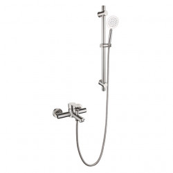 304 Stainless Steel Simple Shower Shower Set Portable Hot And Cold Water Mixing Valve Triple Faucet