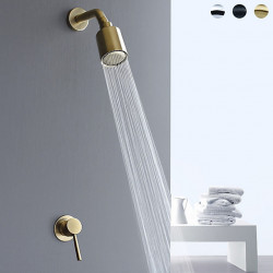 Shower Faucet Set - Handshower Included Contemporary Painted Finishes Mount Inside Ceramic Valve Bath Shower Mixer Faucet