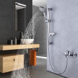 Shower System,Rainfall Shower Head System Set - Dual-Head pullout Contemporary,Traditional Electroplated Mount Outside Ceramic...