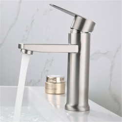 304 stainless steel basin single cold water faucet bathroom brushed wash basin hand basin single cold water faucet without hose