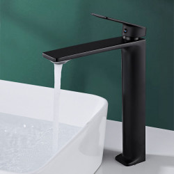 Bathroom Sink Faucet - Waterfall Nickel Brushed,Electroplated,Painted Finishes Centerset Single Handle One HoleBath Faucet