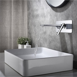 Bathroom Sink Faucet - Waterfall Painted Finishes Other Wall mountedBath Faucet