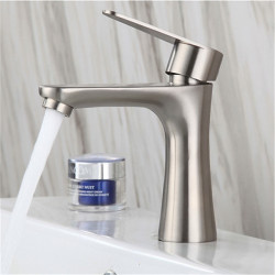 304 stainless steel single cold basin faucet bathroom brushed washbasin hand basin single cold small waist faucet