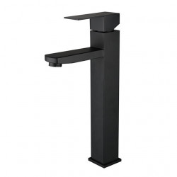 Stainless steel black basin faucet hot and cold basin wash basin European bathroom black faucet