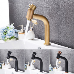 Bathroom Sink Faucet - Waterfall Antique Brass,Electroplated Centerset Single Handle One HoleBath Faucet