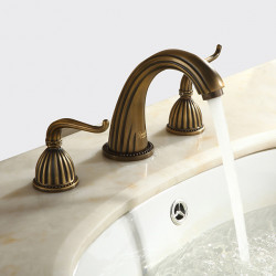 Sink Faucets - Antique Antique Brass Widespread Three Holes