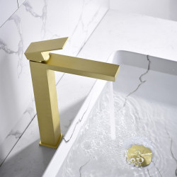 Bathroom Sink Faucet - Waterfall Nickel Brushed,Electroplated,Painted Finishes Other Single Handle One HoleBath Faucet