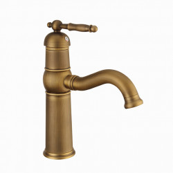 Bathroom Sink Faucet - Rotatable Antique Brass,Antique Copper,Electroplated Centerset Single Handle One HoleBath Faucet