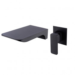 Bathroom Sink Faucet - Waterfall,Widespread,New Design Painted Finishes Wall Mounted Single Handle Two Holes Bath Faucet