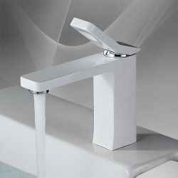 Bathroom Sink Faucet - Thermostatic,Standard Painted Finishes Deck Mounted Single Handle One HoleBath Faucet