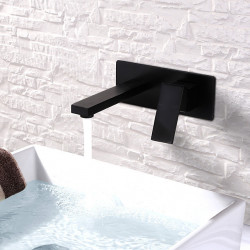 Bathroom Sink Faucet - Widespread,Design Painted Finishes Wall Mounted Single Handle Two Holes Bath Faucet
