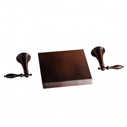 Bathroom Sink Faucet - Wall Mount,Waterfall Oil-rubbed Bronze Wall Installation Two Handles Three Holes Bath Faucet