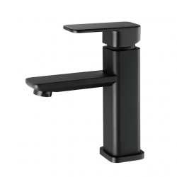 Black Basin Faucets Modern Bathroom hot and cold Mixer Faucet Brass Single Handle Single Hole with pop up drain