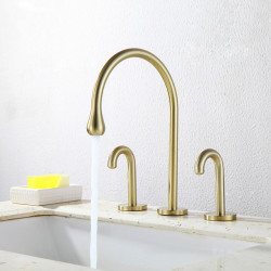 Bathroom Sink Faucet - Standard,filter,Widespread Chrome,Oil-rubbed Bronze,Electroplated Widespread Two Handles Three Holes...
