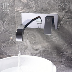 Bathroom Sink Faucet - Widespread Chrome Other Single Handle Two Holes Bath Faucet