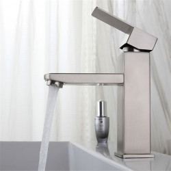 Single HandleBathroomFaucet,Brushed OneHole Centerset, Stainless Steel Contemporary,COD Bathroom SinkFaucet Contain with...