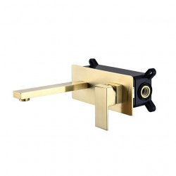 Bathroom Sink Faucet - Wall Mount Painted Finishes Mount Inside Single Handle One HoleBath Faucet