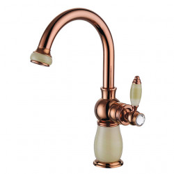 Bathroom Sink Faucet British Royal Soldier Style Single Handle Single Hole 8.2 Inch Bathroom Sink Faucet Deck Mount Hot and...