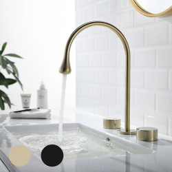 Bathroom Sink Faucet - Widespread Painted Finishes Widespread Two Handles Three Holes Bath Faucet