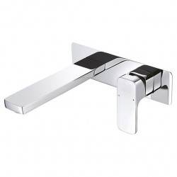 Contemporary Wall Mounted Rotatable Ceramic Valve Single Handle Two Holes Chrome, Bathroom Sink Faucet