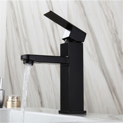 Single HandleBathroomFaucet,Painted FinishesOneHole Centerset,Contemporary,Stainless Steel BathroomSink Faucet Contain...