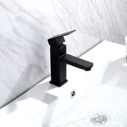 Bathroom Sink Faucet - Premium Design Painted Finishes Deck Mounted Single Handle One HoleBath Faucet