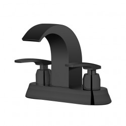 Bathroom Sink Centerset Faucet - Waterfall Painted Finishes Widespread Two Handles Two Holes Bath Faucet