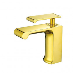 Bathroom Sink Faucet - Waterfall Ti-PVD Centerset Single Handle One HoleBath Faucet