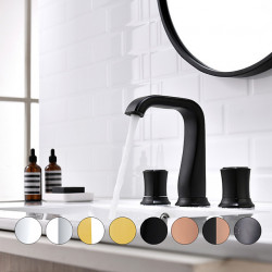 Bathroom Sink Faucet - Widespread Oil-rubbed Bronze,Chrome,Black,Gold Widespread Two Handles Three Holes Bath Faucet Hot Cold...