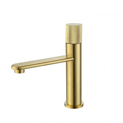 Bathroom Sink Faucet - Black,Brushed Gold Finish Bath Mixer Faucet Single Handle Hot and Cold Water Basin Faucet