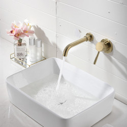 Bathroom Sink Faucet - Widespread Gold Other Single Handle Two Holes Bath Faucet