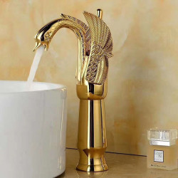 Bathroom Sink Faucet - Standard Electroplated Centerset Single Handle One HoleBath Faucet