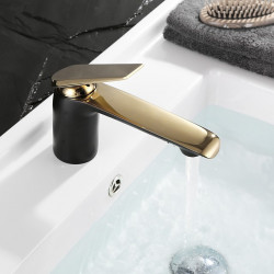 Bathroom Sink Faucet - Widespread Chrome,Gold,Ti-PVD Free Standing Single Handle One HoleBath Faucet