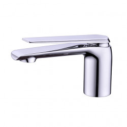 Bathroom Sink Faucet - Widespread Chrome,Electroplated Free Standing Single Handle One HoleBath Faucet